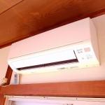 エアコン完備の洋室