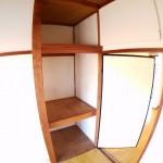 収納も大きくなっています。常にお部屋がスッキリと片づけられます。